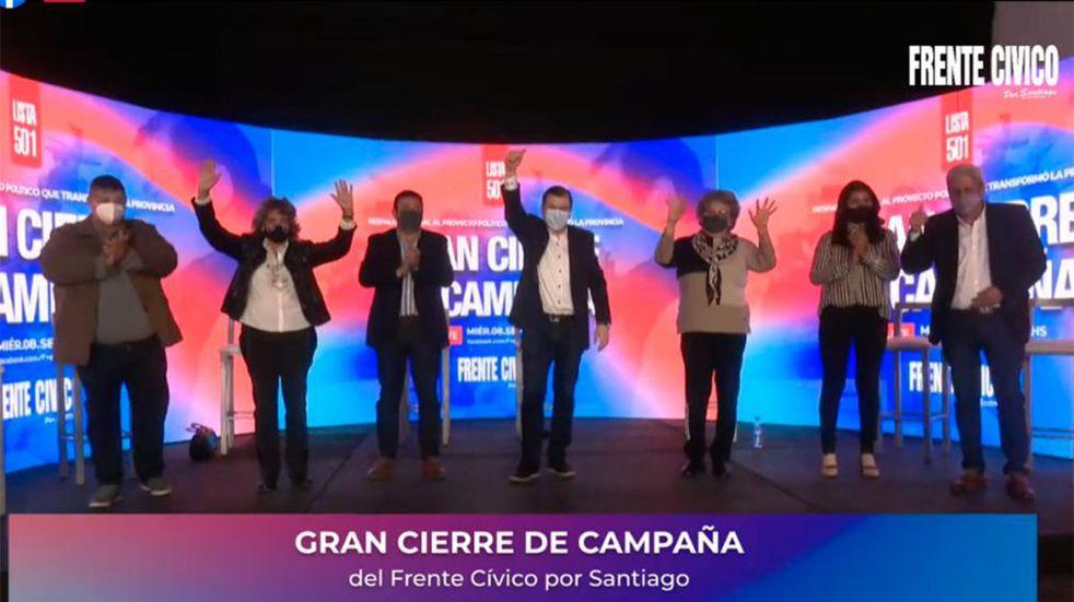 El Frente Cívico por Santiago cerró su campaña de manera virtual