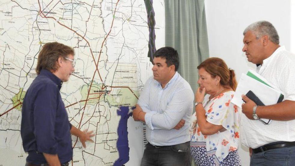 Tras las intensas lluvias, se implementa un plan de trabajo en el departamento Gualeguaychú