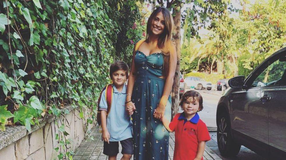Nace un Potterhead: Antonella Roccuzzo compartió la remera especial de Mateo Messi