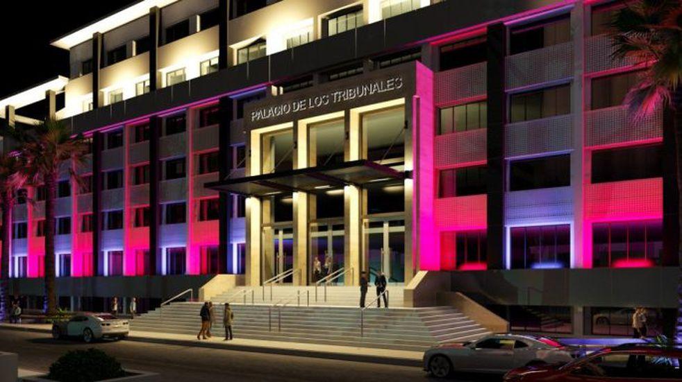 Avanza la obra de restauración de la fachada del Palacio de Tribunales