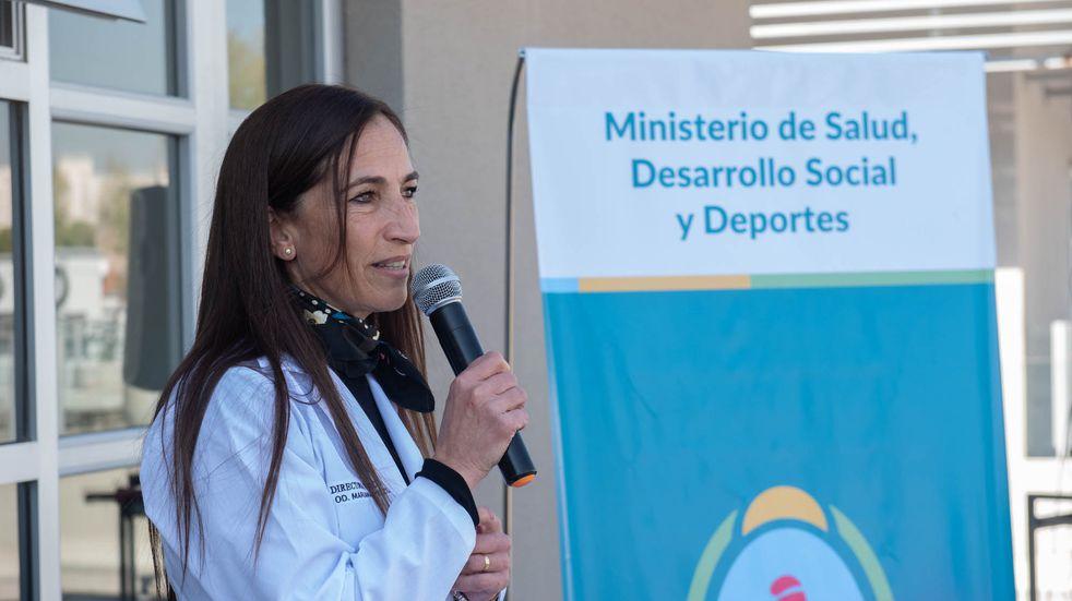 La Directora del Hospital Central, la odontóloga Mariana Pezzutti