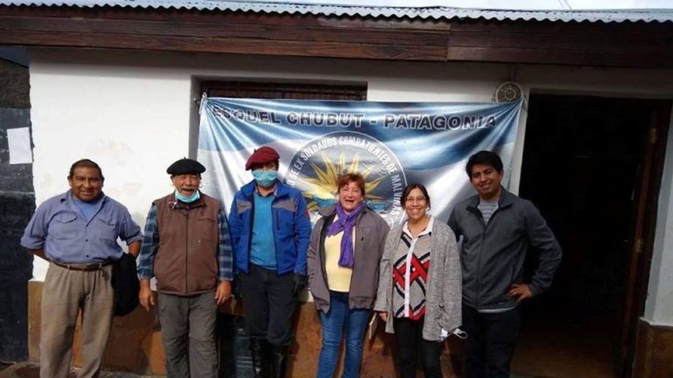 Solidaridad en el sur del país de los centros de ex combatientes