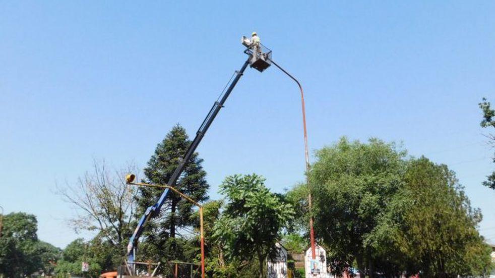 Barrio Ñu Porá: incorporan más de 150 luminarias.