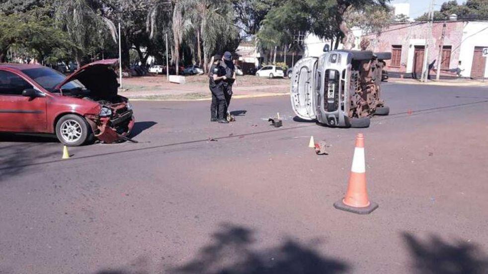 Posadas: accidente vial sin heridos