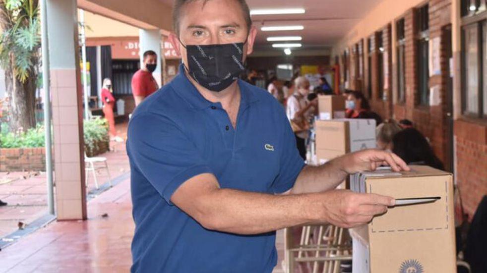 PASO 2021 en Misiones | Carlos Sartori, intendente de Campo Grande, emitió su voto