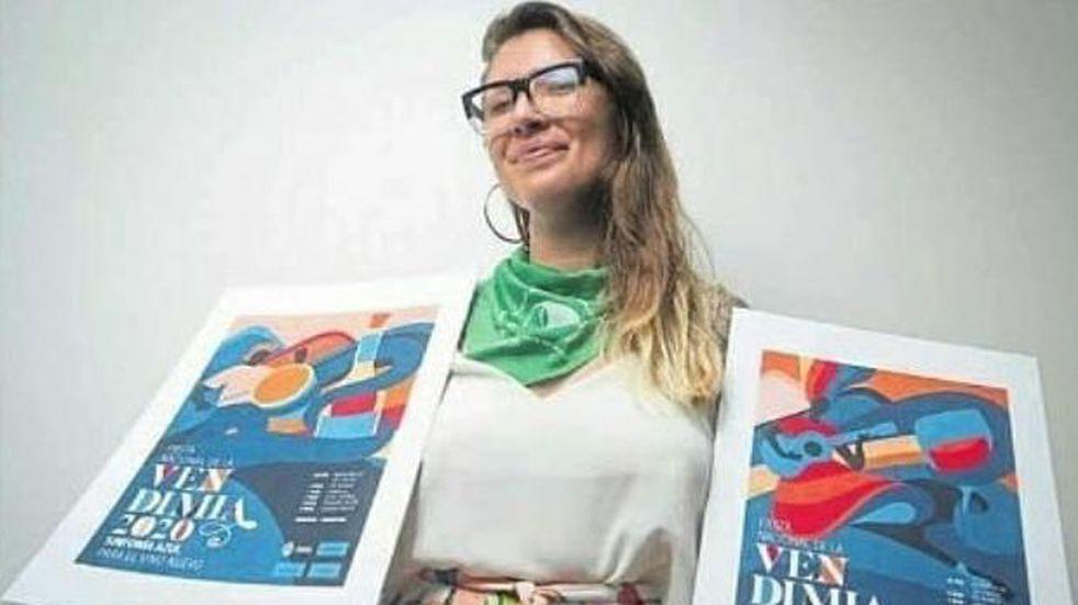 Ilustradora mendocina llegó a la final de un concurso de diseño nacional