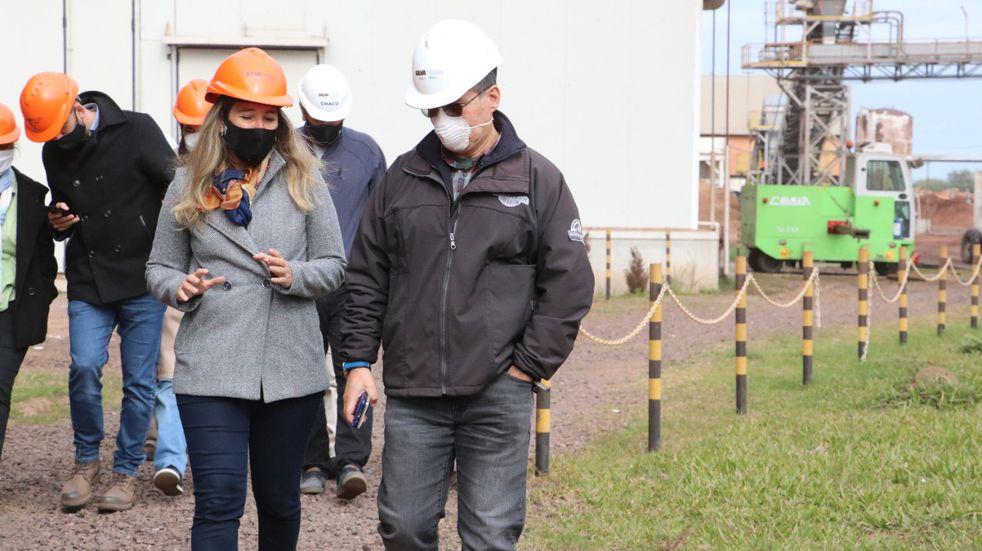 El gobierno provincial inspeccionó la planta de tanino Indunor en La Escondida
