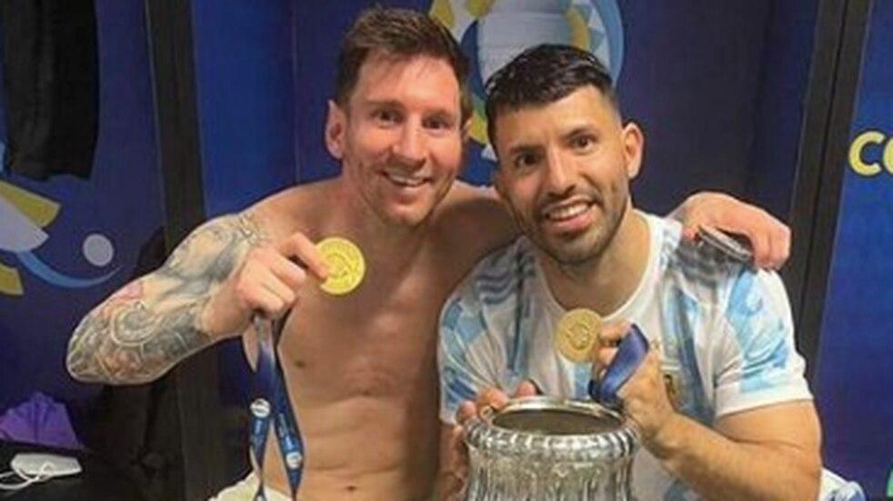 """Kun Agüero, feliz tras ser campeón con Lionel Messi: """"Un día se nos dio"""""""