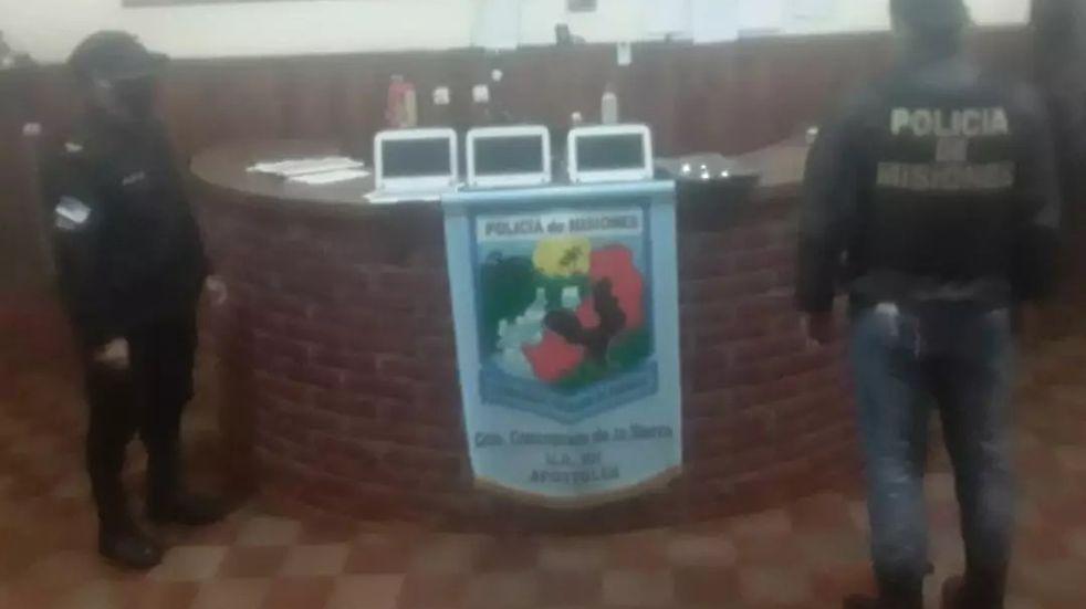 Concepción de La Sierra: Recuperaron computadoras sustraídas a una escuela