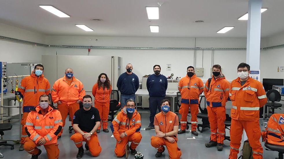 Río Grande: personal de Defensa Civil se capacita en detección de gases y trabajos en altura