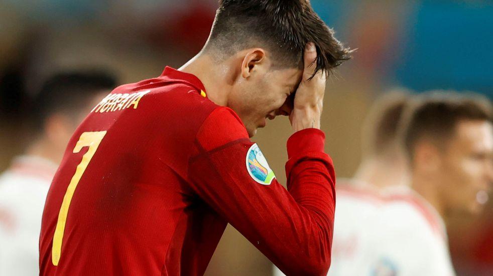 """El mal momento de Álvaro Morata en la Eurocopa: """"Insultaron y amenazaron de muerte a mi familia"""""""