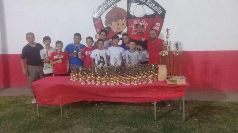 El Centro Vecinal Nicolás Batalla cerró el años de sus actividades deportivas