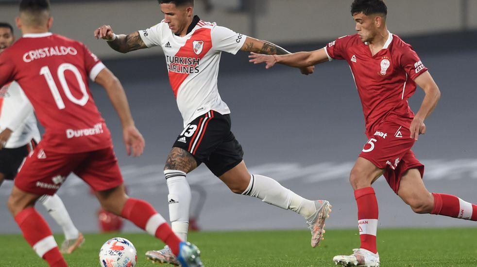 River logró el empate sobre el final y firmó el 1-1 ante Huracán en la previa del Superclásico