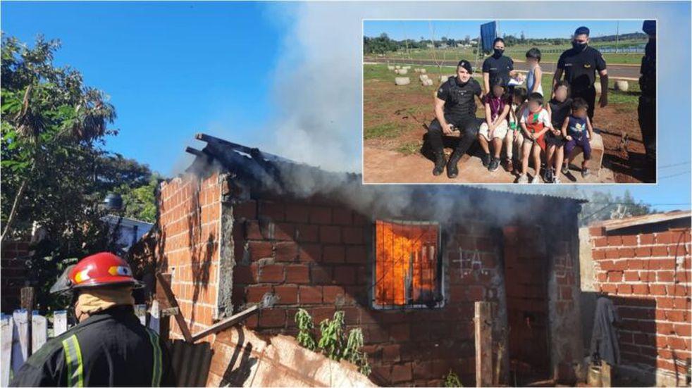 Un incendio en una casa en Posadas dejó al descubierto una historia de abandono