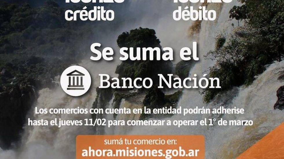El Banco Nación se suma al Ahora Iguazú