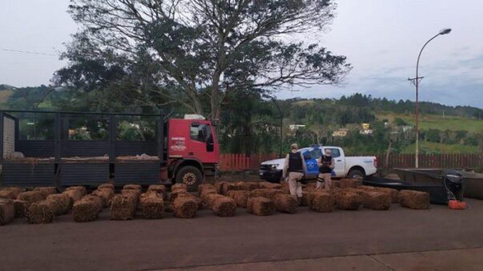Más de dos toneladas de tabaco incautaron en El Soberbio