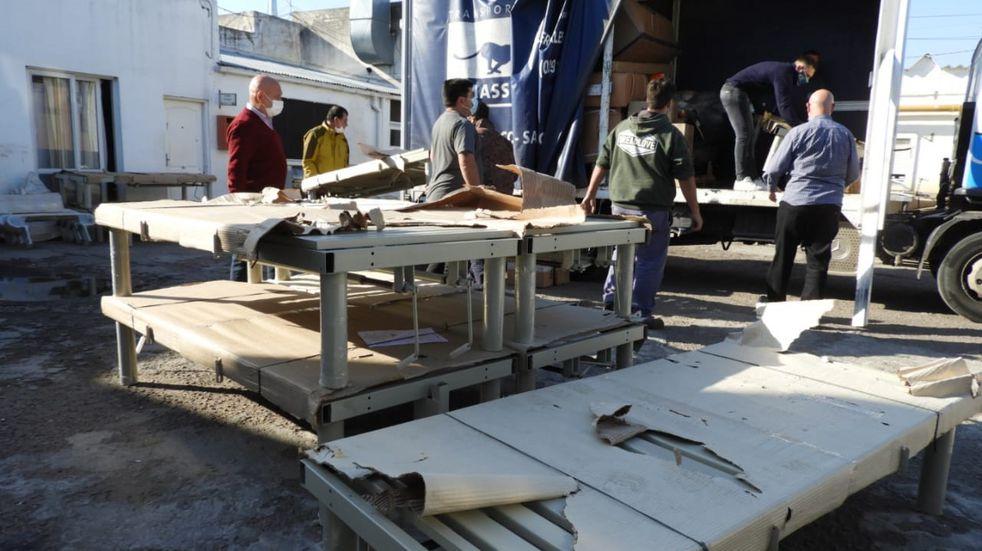 El Hospital Municipal recibió donaciones de camas y colchones