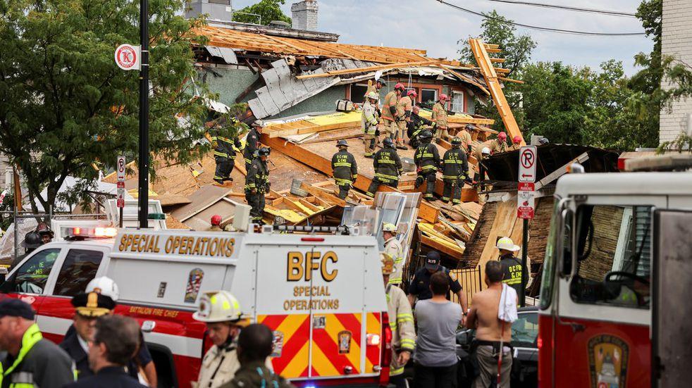 Se derrumbó un edificio en construcción en Washington