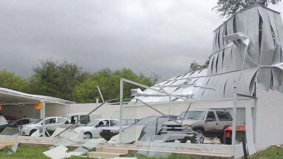 Temporal. Santa Rosa de Calamuchita fuertes vientos. (La Voz)