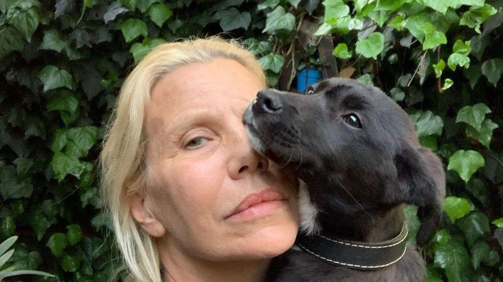 Nora Portela, la exmodelo que convive con 40 perros, cuida animales y ayuda a los más carenciados