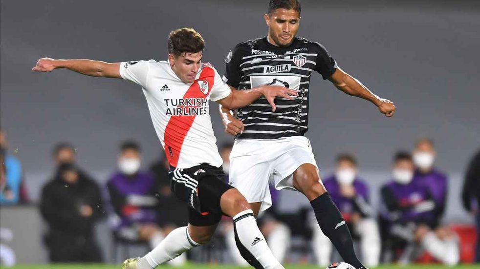 Julián Álvarez volvió al gol en River por Copa Libertadores