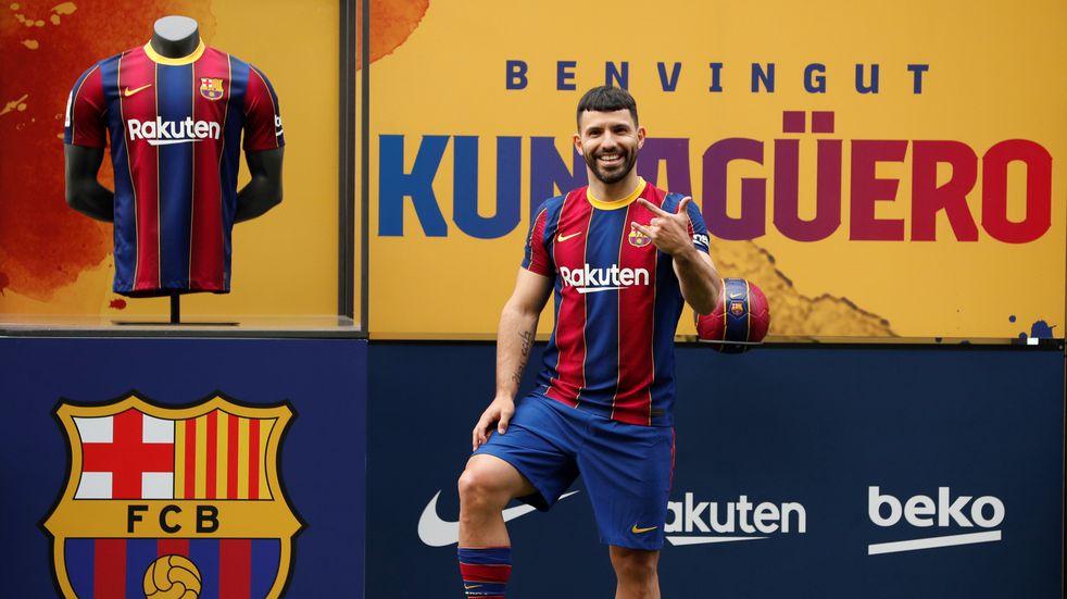 """El """"Kun"""" Agüero superó la revisión médica y ya es refuerzo del Barcelona: """"Estoy en el mejor equipo del mundo"""""""