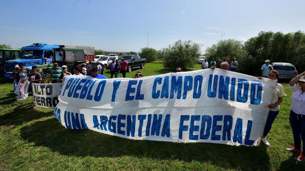 Mendoza también se plegó a las protestas del campo y la concentración fue en San Carlos