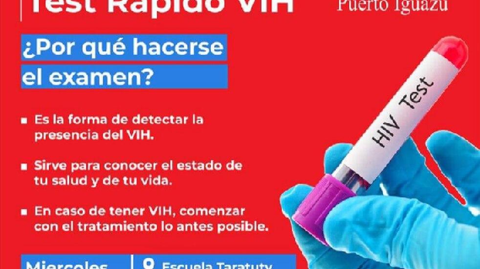 Mañana se realizará un nuevo Operativo de Testeo Rápido de VIH en Puerto Iguazú
