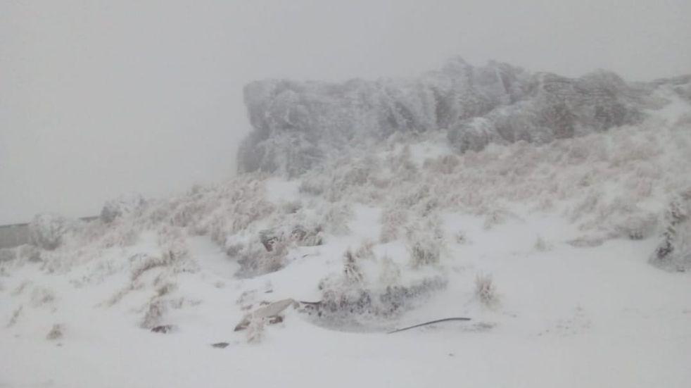 Nieve en las Sierras de los Comechingones