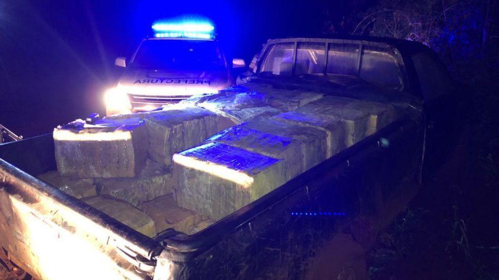 Prefectura Naval Argentina secuestró casi media tonelada de droga en Puerto Libertad