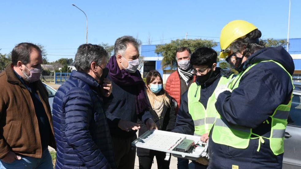 Castellano recorrió el avance de obras en el PAER