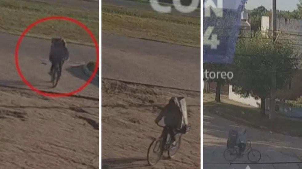 Carlos Savanz llevaba a M. en bicicleta y tapada con una caja de cartón
