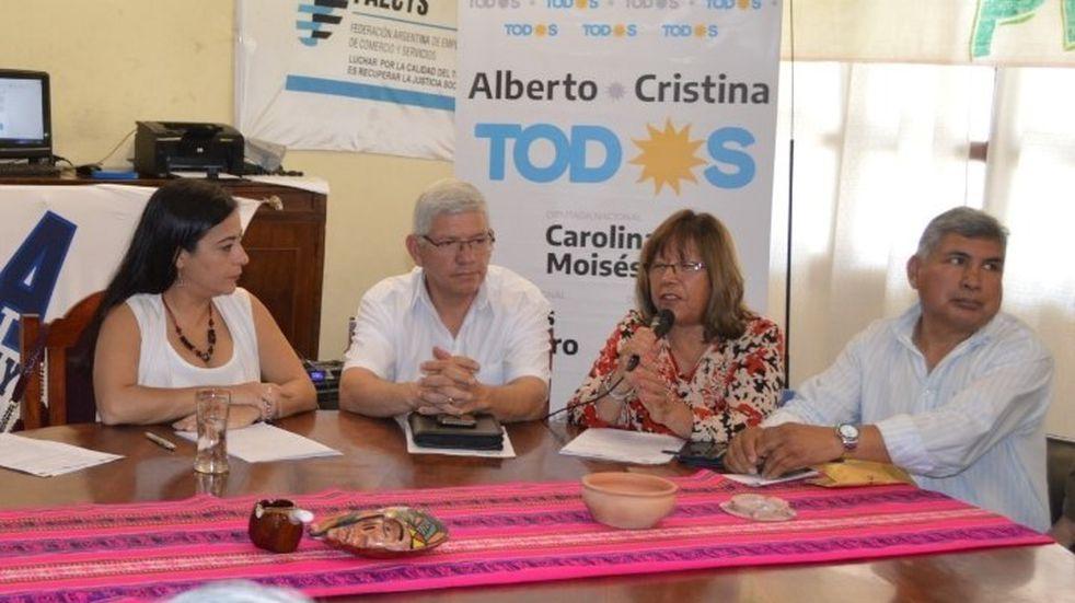 Dirigentes sindicales firmaron apoyo a la fórmula Fernández-Fernández