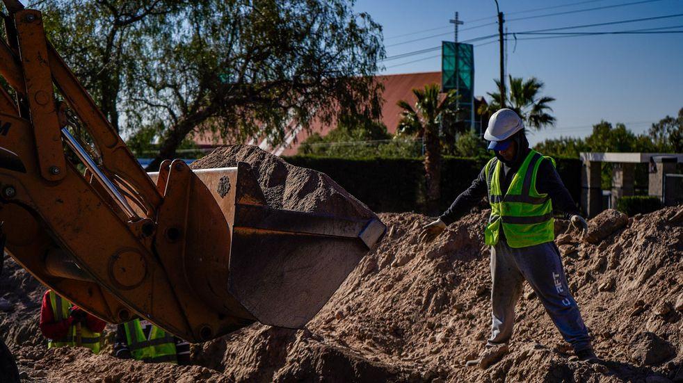 Ya comenzarpon las obras del acueducto de El Challao, una obra que beneficiará a más de 3 mil familias. Gentileza MLH