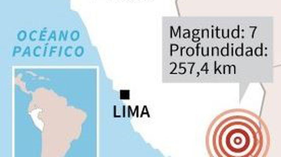 Un sismo de magnitud 7 sacudió a Perú y al norte de Chile