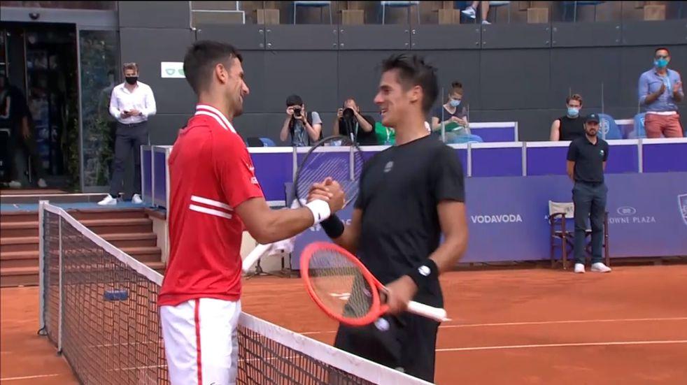 Federico Coria disfrutó en Belgrado a pesar de la derrota con Novak Djokovic