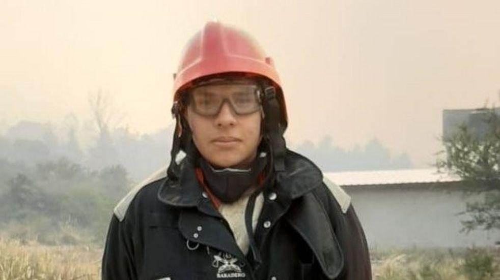 Resignó su festejo de cumpleaños para combatir el fuego en las sierras puntanas