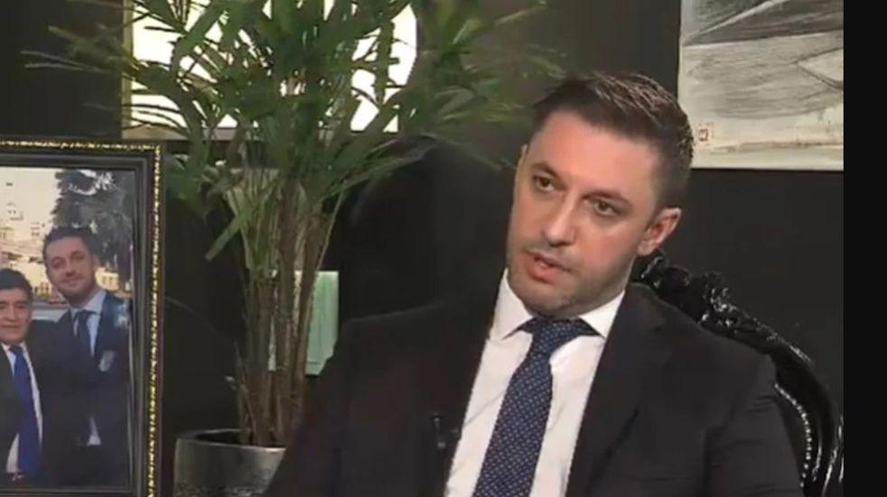 Matías Morla durante una entrevista (Archivo)