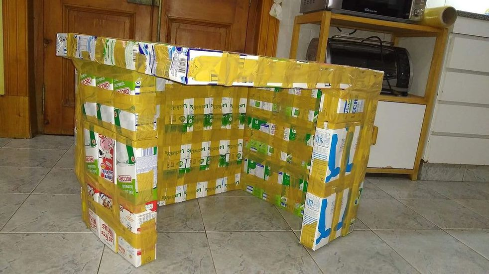Para imitar: recicla cajas de leche y construye casitas para perros de la calle