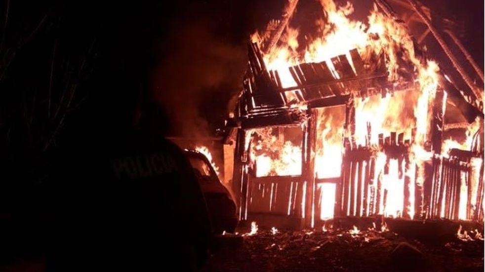 Se incendió una vivienda desocupada