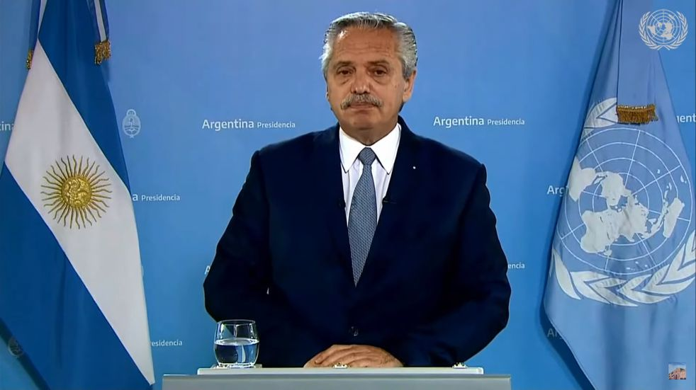 Alberto Fernández dio una exposición en la Cumbre de las Naciones Unidas sobre Sistemas Alimentarios.