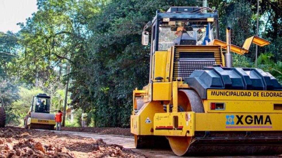 Eldorado: se están llevando adelante obras de asfaltado