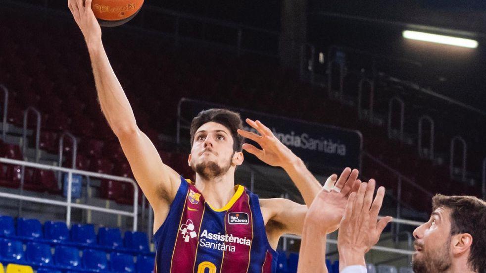 Con 16 de Leandro Bolmaro, el Barcelona arrancó ganando el playoffs de la liga ACB