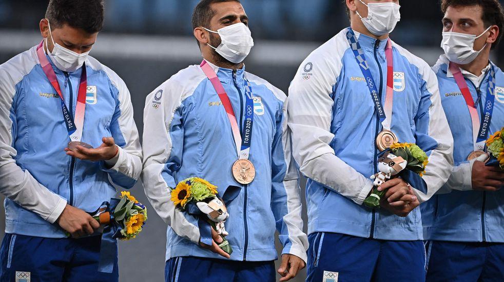 Juegos Olímpicos: el momento en que Los Pumas recibieron la medalla de bronce