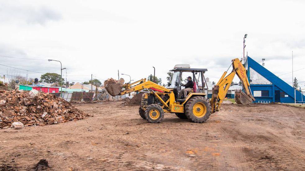 Arrancaron las obras en Sportivo Norte, en el medio de la polémica por los subsidios
