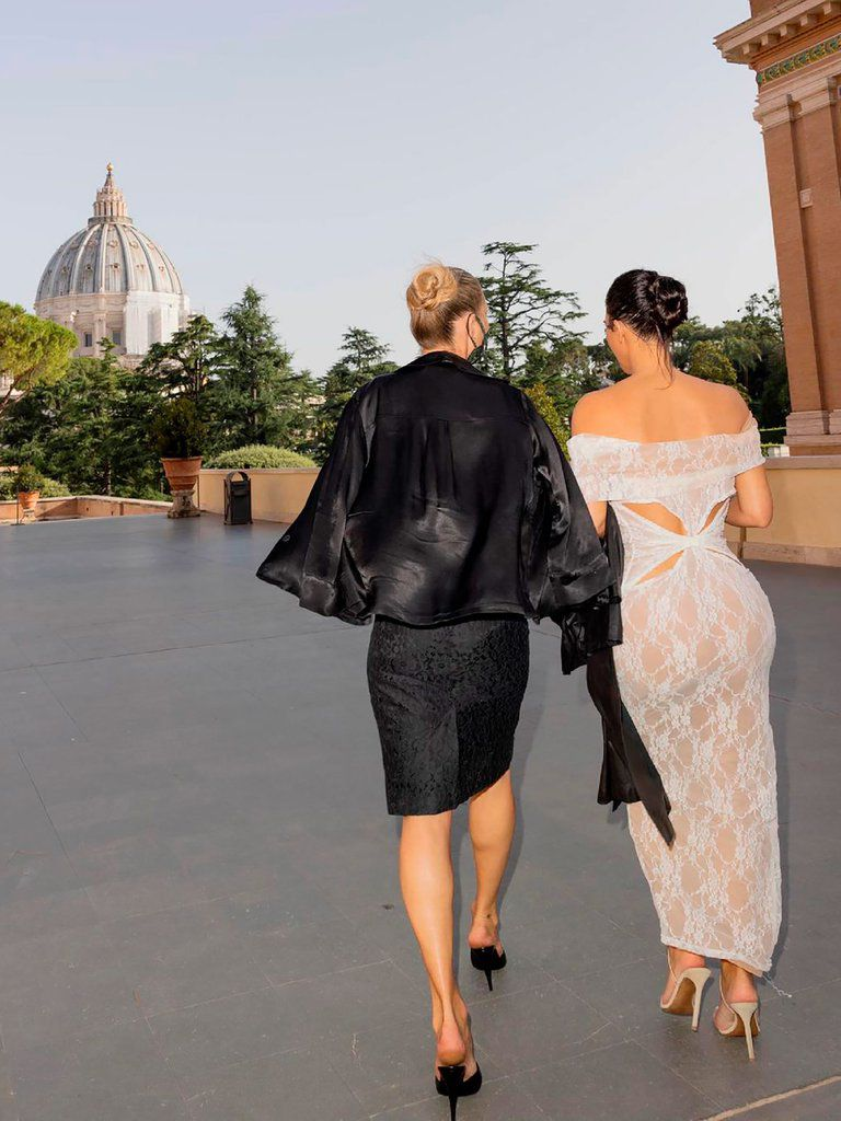 Kim con Kate Moss