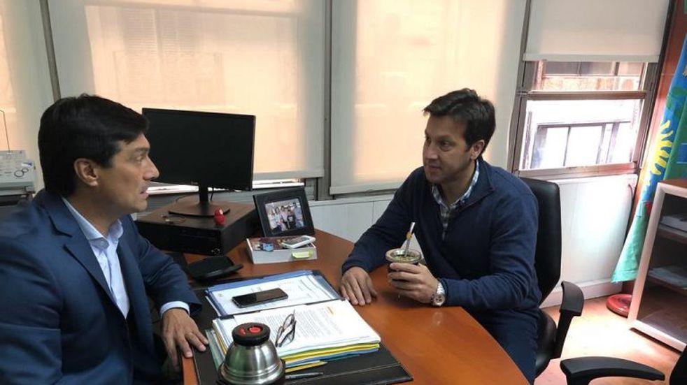 Rojas se reunió con el Legislador Pablo Ansaloni