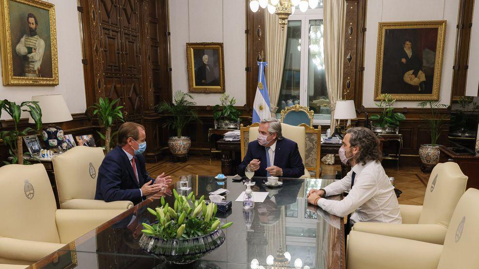 Gustavo Bordet se reunió con Alberto Fernández