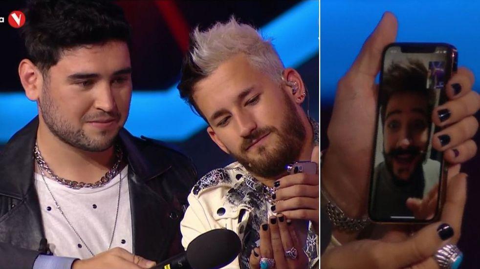 Camilo consoló por videollamada a Tomás Peñaloza, el mendocino que fue eliminado de La Voz y cantó su canción