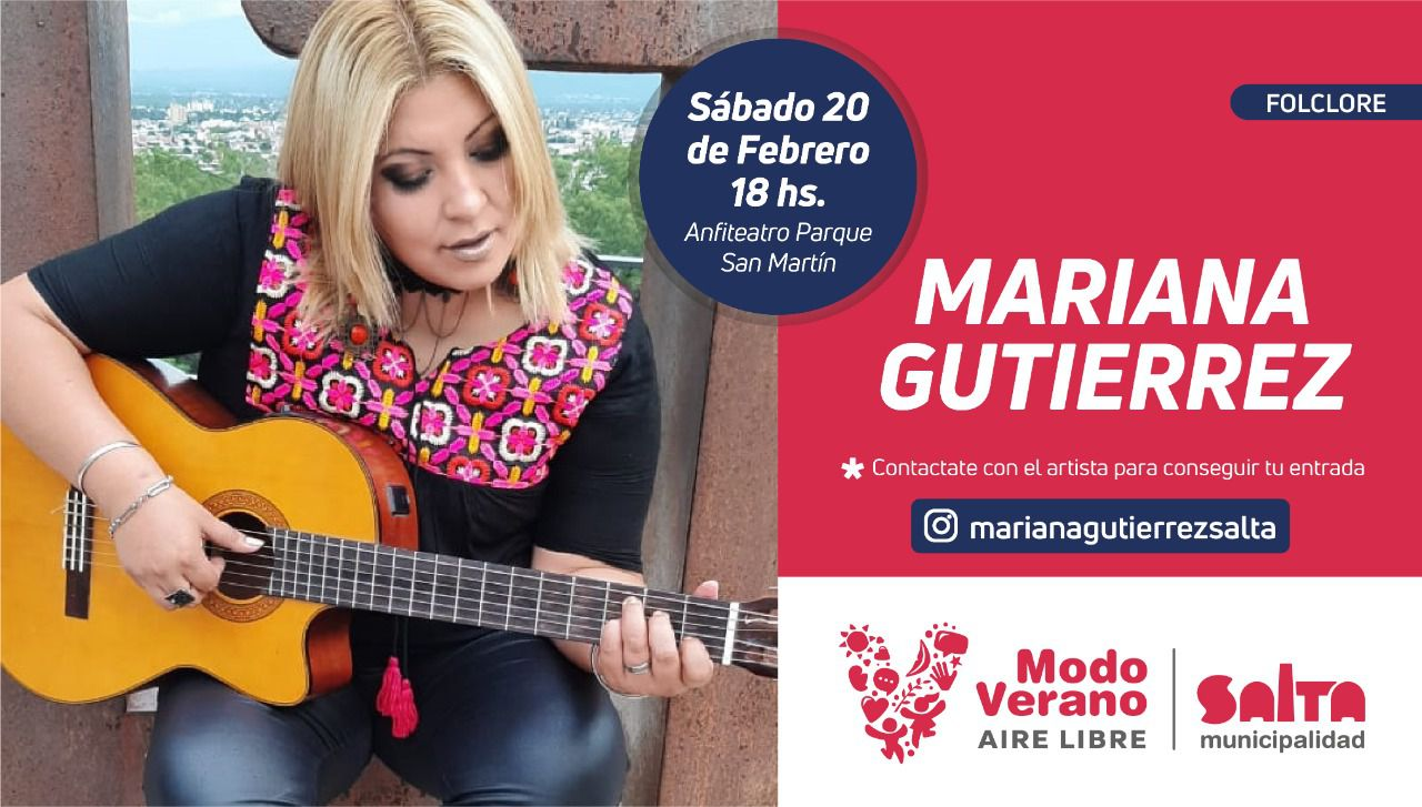 El sábado 20 se presentan las artistas Mariana Gutiérrez y Camila Spears a las 18 y las 20.